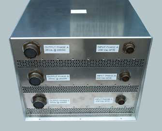 Military Grade Power Conversion Unit for Conditions 3-Phase Generator Power for Remote Camps